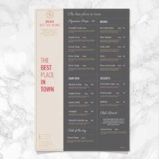 editable diseño del menú bistro vector  descargar vectores gratis bistro menu template doc