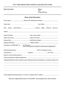 editable free 9 hospital registration forms in pdf hospital admission form template word