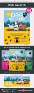 editable free dog walkers flyer in psd  free psd templates dog walking poster template excel