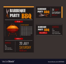 editable set of of a bbq menu template royalty free vector image barbecue menu template sample