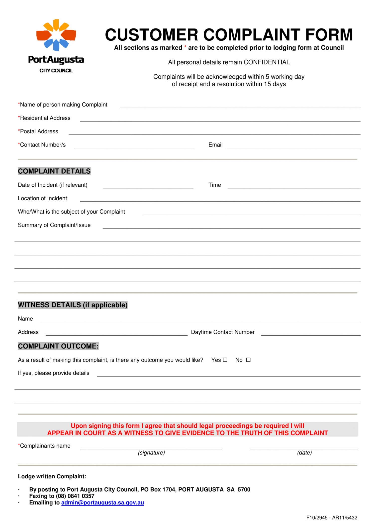 free 12 customer complaint forms in pdf  ms word customer complaint form template doc