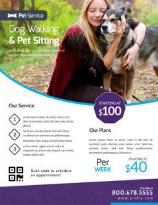free dog walking & pet sitting flyer template  mycreativeshop dog walking poster template doc