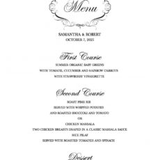 free download a free wedding menu template rehearsal dinner menu template word