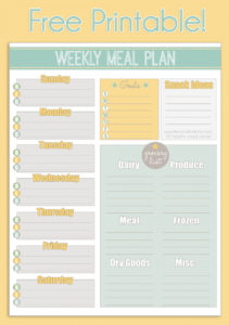 free free printable weekly meal planner  calendar diet menu template doc