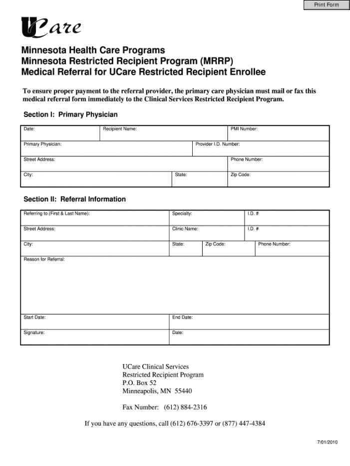 free medical referral  fill online printable fillable blank doctor referral form template sample