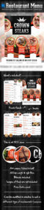 free menu graphics designs & templates from graphicriver bbq catering menu template doc