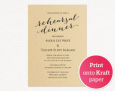 free rehearsal dinner invitation template · wedding templates and printables rehearsal dinner menu template sample