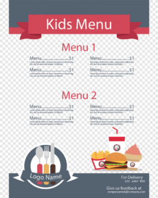 free sample menu illustration menu kids meal restaurant outline restaurant kids menu template excel