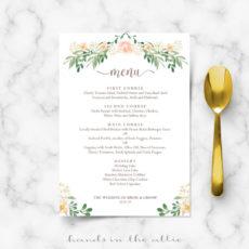 free wedding dinner menu wedding dinner menu template excel