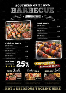 grill barbecue restaurant menu template barbecue menu template sample