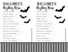 halloween mystery dinner party free menu  the crafting chicks mystery dinner menu template sample