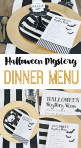 halloween mystery dinner party free menu  the crafting chicks mystery dinner menu template word