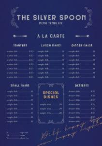 how to make a fancy menu template fancy restaurant menu template doc