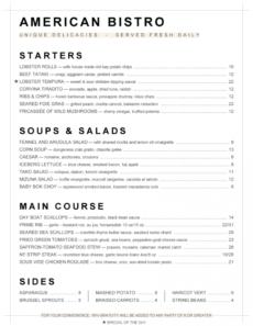 menupro · menu design samples from menupro menu software bistro menu template doc