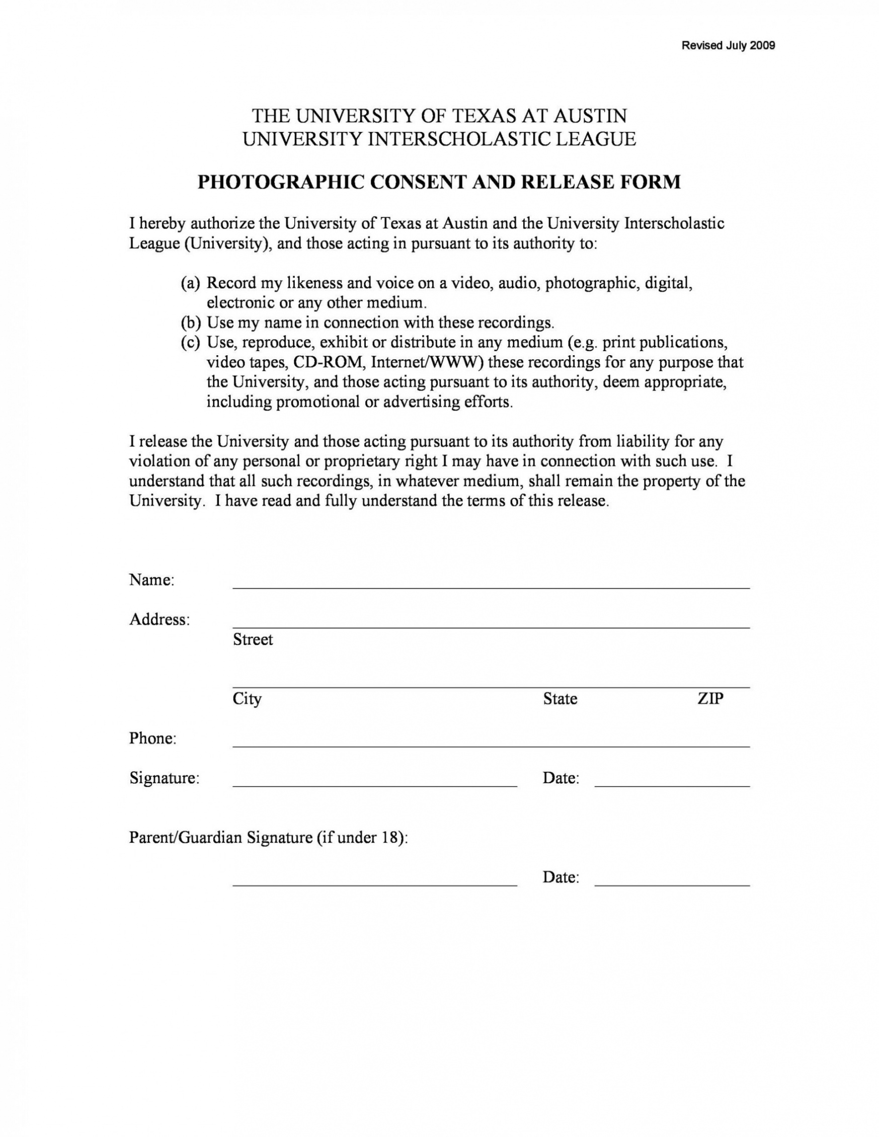 photo release form template ~ addictionary material release form template example