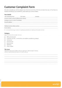 printable free 12 customer complaint forms in pdf  ms word customer complaint form template doc