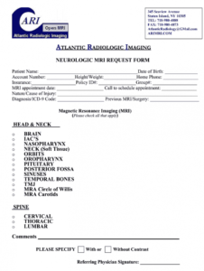 printable mri order form  fill out and sign printable pdf template  signnow radiology request form template excel
