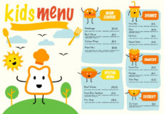 printable plantilla gratuita menú menú vector  descargar vectores restaurant kids menu template word