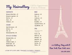 printable salon menu templates from imenupro nail salon service menu template example