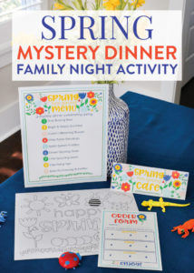printable spring mystery dinner family night activity with free mystery dinner menu template sample