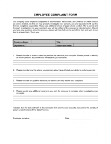 sample employee complaint form template businessinabox™ customer complaint form template doc