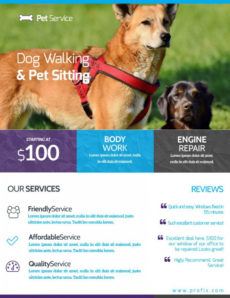 sample free dog walking flyer template ~ addictionary dog walking poster template excel
