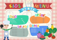 sample kids menu templates  download free vectors clipart restaurant kids menu template doc