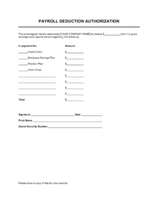sample payroll deduction authorization template businessinabox™ employee payroll deduction form template example