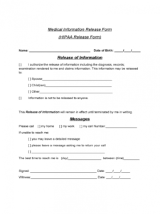sample release of information form  5 free templates in pdf word counseling release of information form template pdf
