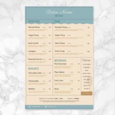 sample vector bistro plantilla de menú  descargar vectores gratis bistro menu template excel
