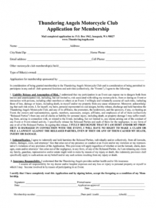 sec registration for motorcycle club  fill online motorcycle club membership application form template word