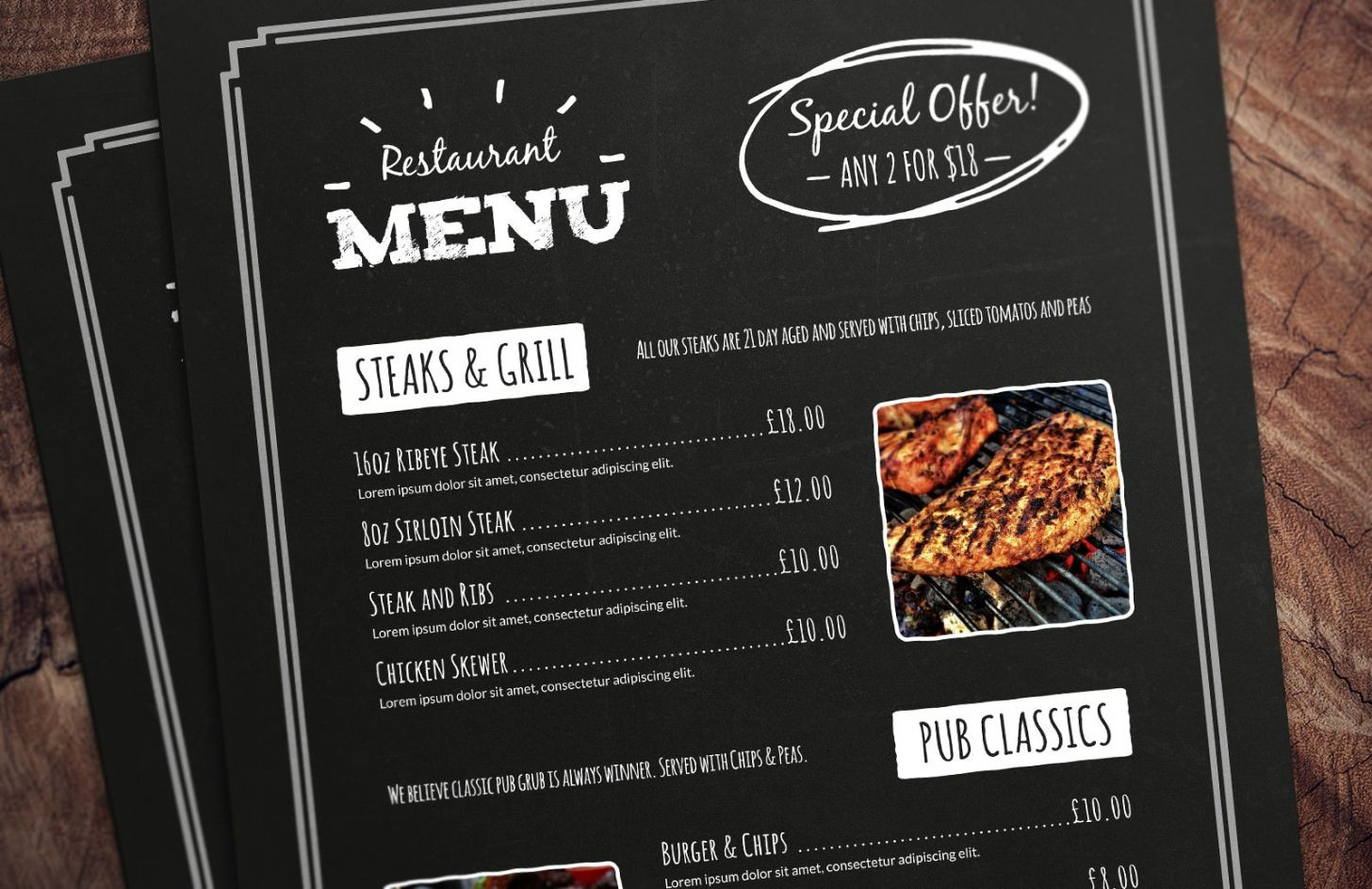 32 free simple menu templates for restaurants cafes and daily specials menu template word