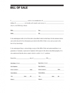bill of sale template  fill out and sign printable pdf template  signnow auto sale form template doc