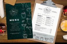 cocktail menu template in psd ai & vector  brandpacks bar drinks menu template word