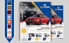 editable car wash flyer template vol04 car wash menu template