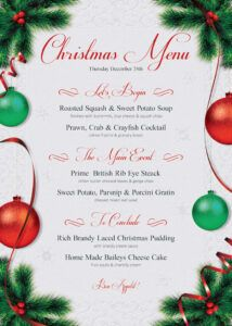 editable christmas menu template  free posters design for photoshop holiday menu template