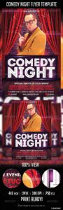 editable comedy night flyer template comedy show poster template doc