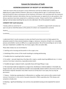 editable dental extraction consent form download printable pdf oral surgery consent form template example