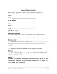 editable free 3 vehicle sales agreement contract forms in pdf auto sale form template pdf