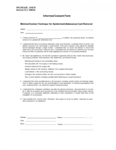 editable informed consent form oral surgery consent form template doc