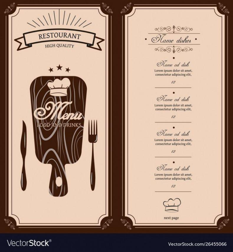 editable restaurant menu template free ~ addictionary restaurant to go menu template pdf