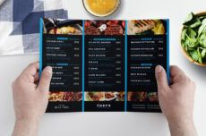 editable trifold restaurant menu template in psd ai & vector restaurant to go menu template pdf
