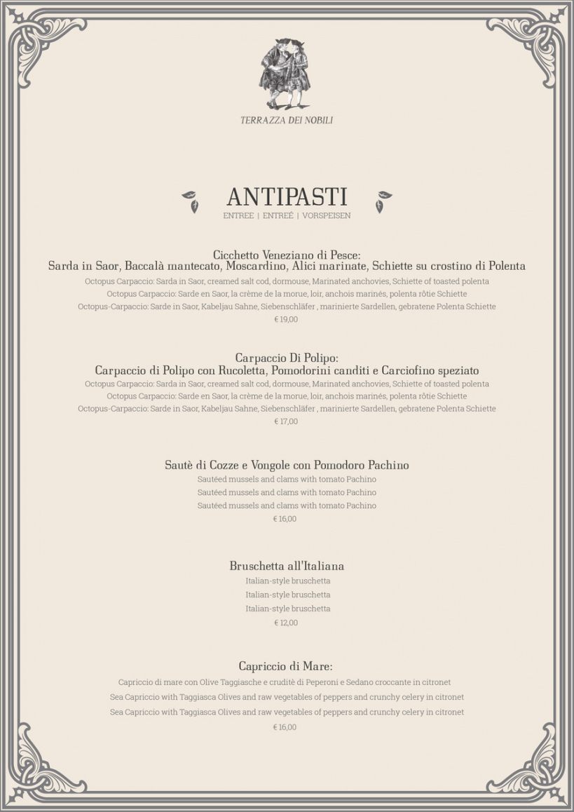 entry 8fabulista for restaurant fine dining menu fine dining restaurant menu template word