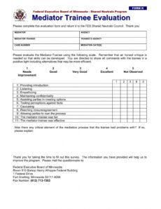 free 14 trainee evaluation forms in ms word  pdf training assessment form template