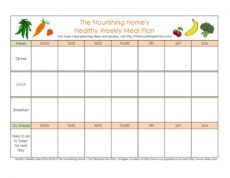free 40 weekly meal planning templates ᐅ templatelab weekly food menu template sample