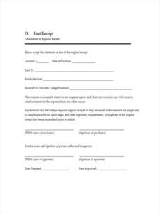 free 7 lost receipt forms in ms word  pdf  excel missing receipt form template word