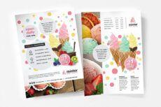 free a4 ice cream postermenu template in psd ai & vector ice cream menu template pdf