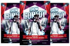 free comedy show flyer template comedy show poster template sample