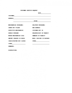 free customer service request form template customer information request form template excel