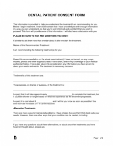 free dental patient consent form  word  pdf  eforms oral surgery consent form template example